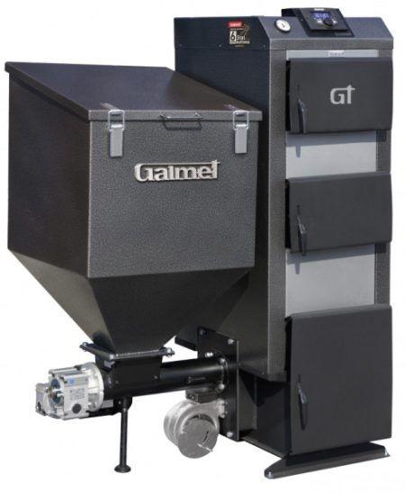 Пеллетный котел Galmet EKO GT-KWPD R - 22 кВт, горелка лоткового типа, пеллеты, дрова, уголь, автоматизированный