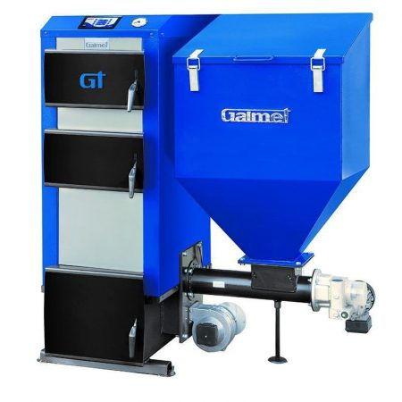 Пеллетный котел Galmet EKO GT-KWPU M TRIO - 75 кВт (поворотная реторта), пеллеты, дрова, уголь, автоматизированный